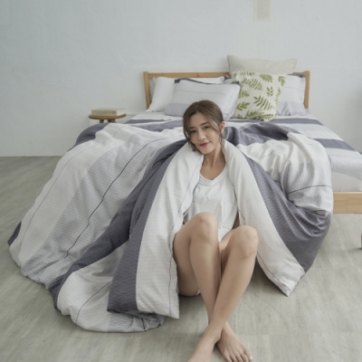 BUHO 台製300織100%TENCEL純天絲床包被套四件組-雙人(巴魯特)