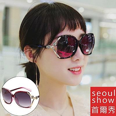 seoul show首爾秀 香香風銅模花朵太陽眼鏡UV400墨鏡 9825