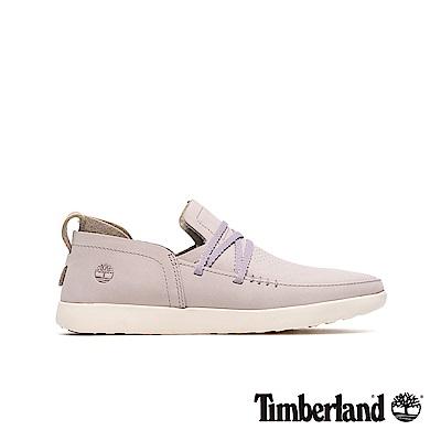 Timberland 女款淺紫色磨砂革舒適透氣休閒鞋|A1YCV