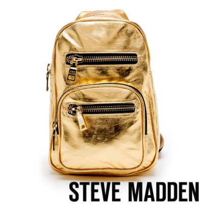 STEVE MADDEN-BIRVING 閃耀潮流側背/斜背隨身胸包-金色