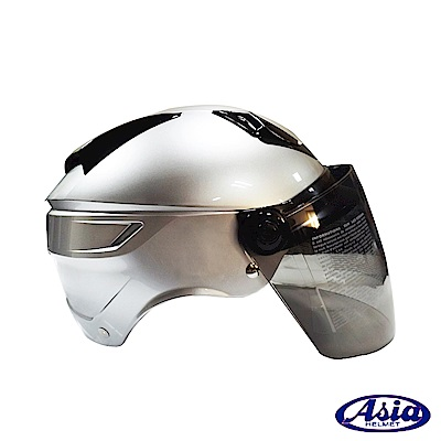 ASIA A-613螺絲款_半罩式安全帽 銀