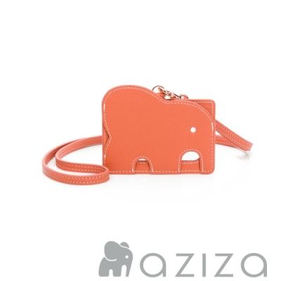 aziza 小象證件套 -珊瑚紅
