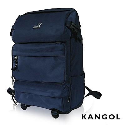 KANGOL 英式時尚登山高機能大容量13吋筆電層後背包(藍) KG1106