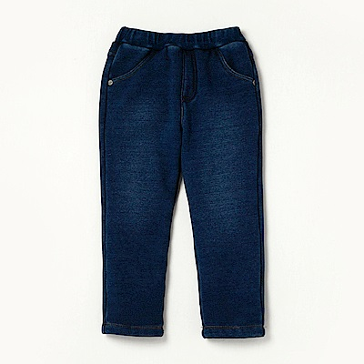 PIPPY 簡約內刷毛長褲 藍