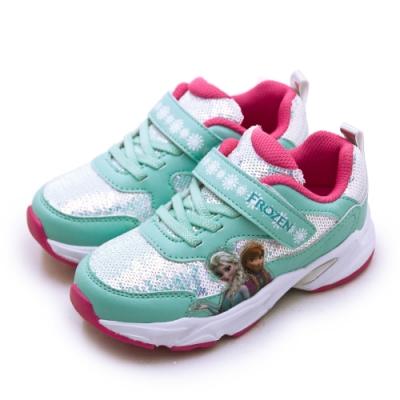 Disney 迪士尼 冰雪奇緣 FROZEN 兒童電燈慢跑鞋 湖水藍 94425