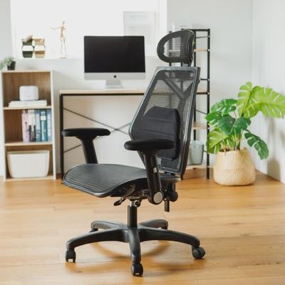 完美主義 全網頭靠透氣舒適扶手電腦椅/辦公椅/主管椅