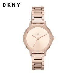 DKNY The modernist 摩登宣言 玫瑰金不鏽鋼鍊帶女錶 32MM NY2637
