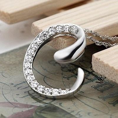 米蘭精品 925純銀項鍊-時尚簡約C英文字母