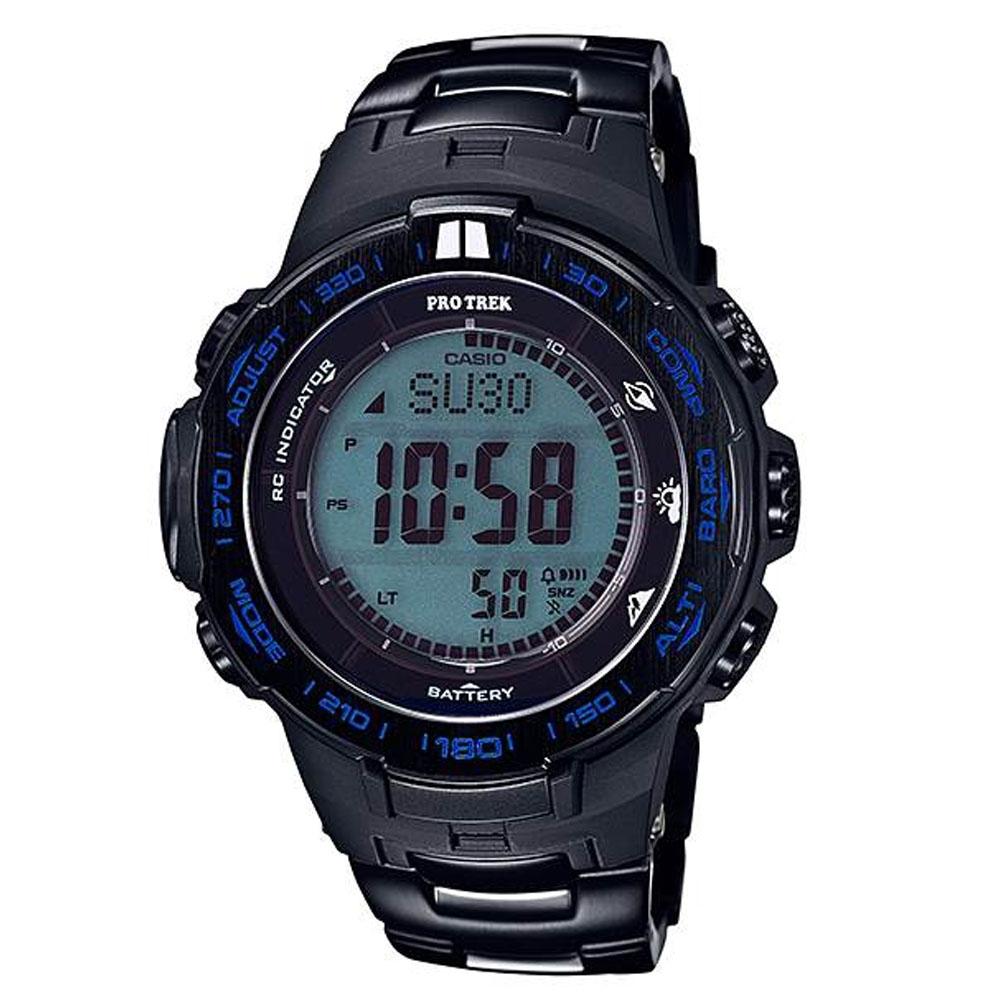 CASIO 卡西歐 PROTREK 多功能專業登山太陽能電波手錶