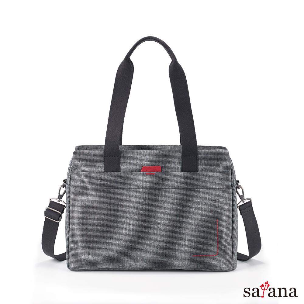 satana - Fresh 輕職人俐落肩背包 - 黑白小千島