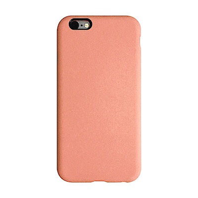 【TOYSELECT】iPhone SE2/7/8 文藝液態矽膠全包防摔殼:珊瑚橘
