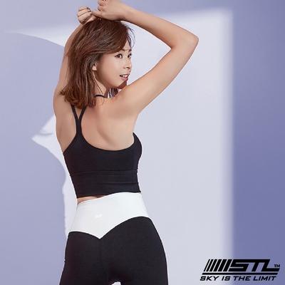 【零碼出清】韓國 STL yoga Bra Crop Top light Y 高度支撐 機能運動內衣 / 短版背心 (含專利胸墊) 巨光黑Black
