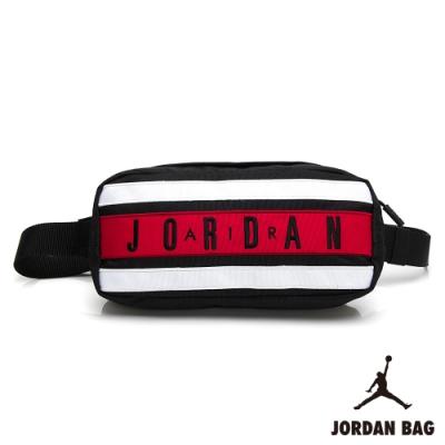 NIKE JORDAN TAPED 喬丹 運動 休閒 斜肩包 黑白紅 9A0300-KR5