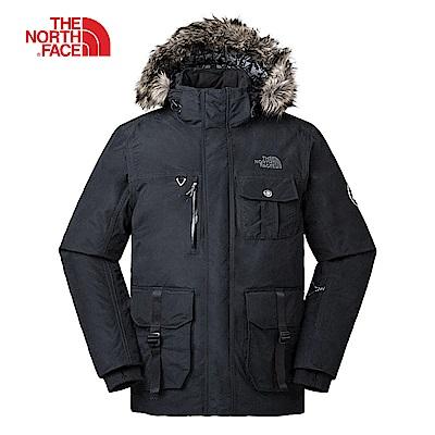 The North Face北面男款黑色防水保暖羽絨外套|3L71JK3