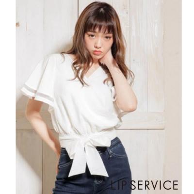 LIP SERVICE 蝴蝶結綁帶上衣(3色)