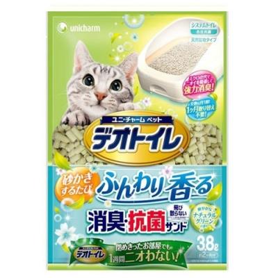 Unicharm除臭抑菌沸石矽膠香水砂-森林香 3.8L【兩包組】