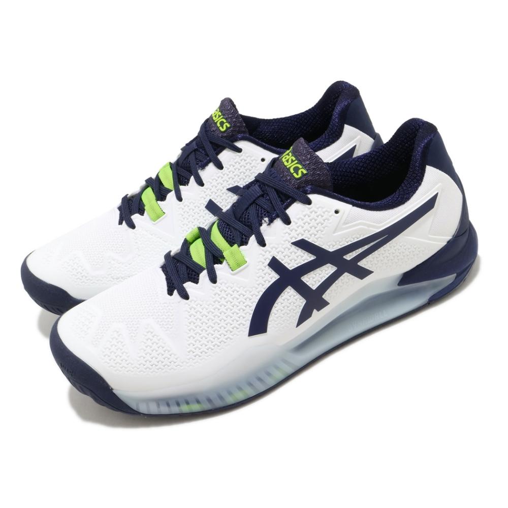 Asics 網球鞋 Gel-Resolution 8 2E 男鞋 亞瑟士 寬楦 運動 緩衝 膠底 亞瑟膠 白 藍 1041A113102