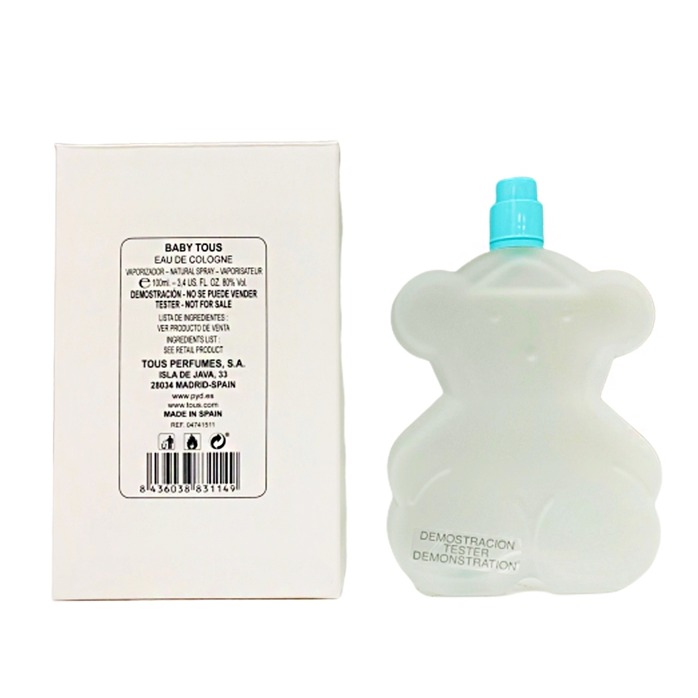 TOUS BABY TOUS 淘氣小熊寶寶中性古龍水100ml TEST(環保盒/無蓋) product image 1