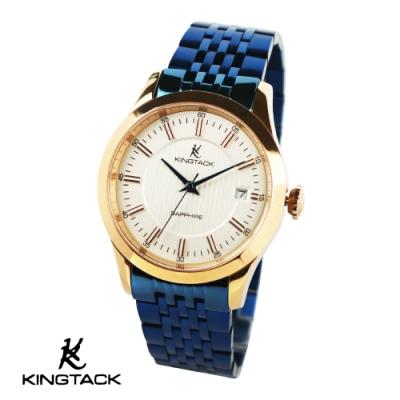 KINGTAGK 典雅品味時尚簡約機械腕錶38mm藍