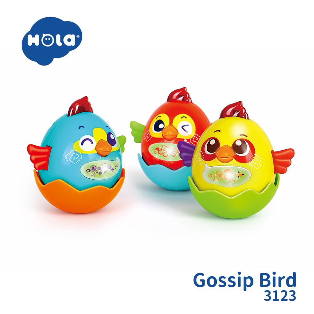 香港HOLA幼兒聲光玩具-互動寶貝蛋(三色可選) 3123