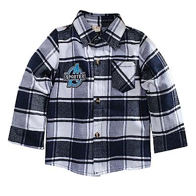 格紋棉厚襯衫 k60744 魔法Baby