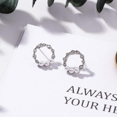 梨花HaNA 韓國925銀細緻珍珠圈飾浪漫滿屋耳環