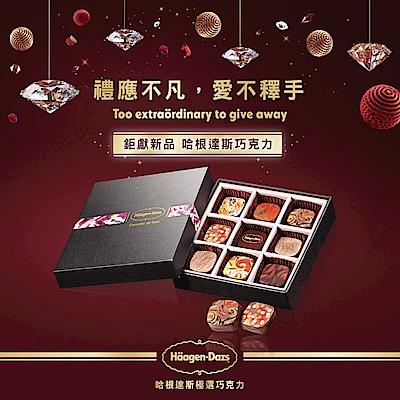 Haagen Dazs哈根達斯 極選巧克力-匠心極品巧克力禮盒(9入/盒)