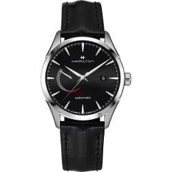 Hamilton 漢米爾頓 JAZZMASTER 爵士機械手錶-黑x銀/42mm