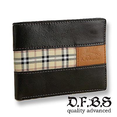 DF BAGSCHOOL皮夾 - 紳士實用多夾層設計短夾