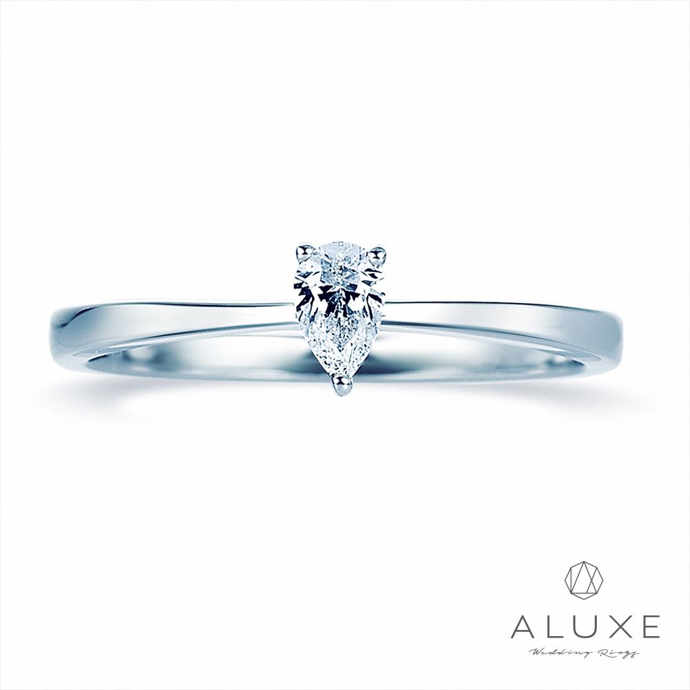 A-LUXE 亞立詩 Pure系列 18K金 水滴梨型鑽戒指女戒