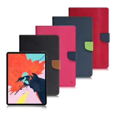 台灣製造 MyStyle for 2020 iPad Pro 12.9吋 甜蜜雙搭支架側翻皮套