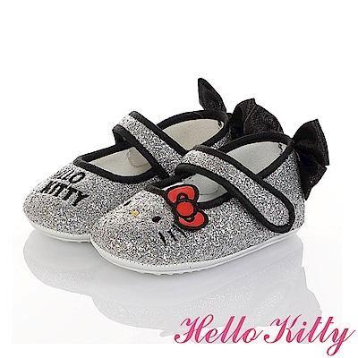 HelloKitty 金蔥輕量減壓寶寶學步娃娃童鞋-銀