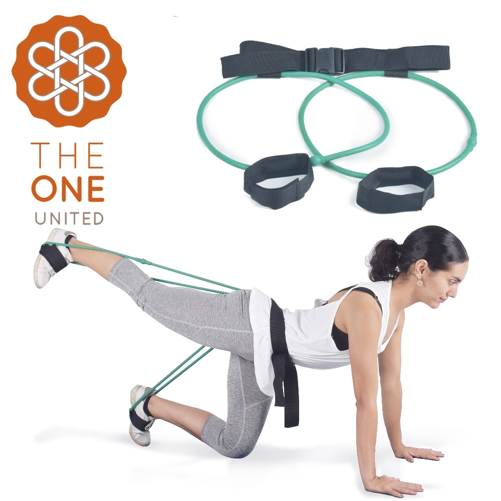 【The One】瑜珈健身 專業臀腿阻力訓練器-30磅(綠色)