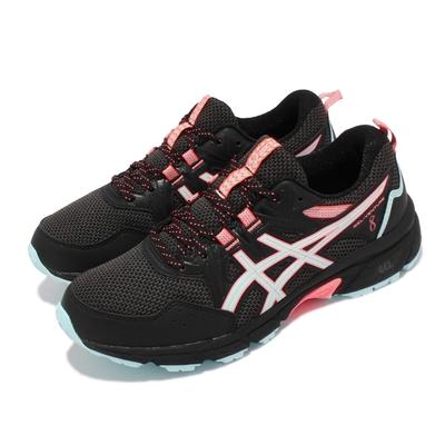 Asics 慢跑鞋 Gel Venture 8 D 寬楦 女鞋 亞瑟士 入門野跑鞋 避震 緩衝 戶外活動 黑 藍 1012A706008