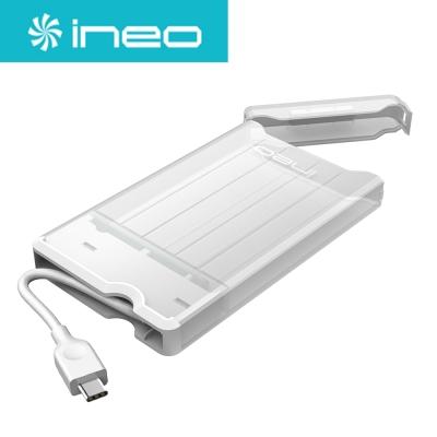 Ineo 2.5吋硬碟轉USB3.1 Gen2 Type-C外接盒 C2573白