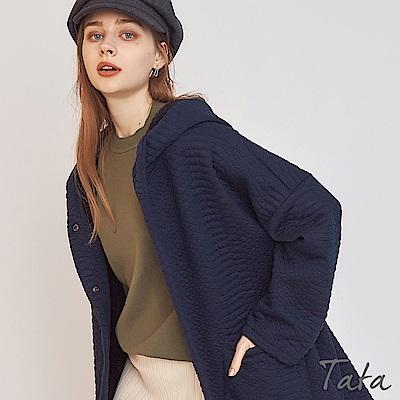 連帽內刷毛動物紋押扣外套 共二色 TATA-F