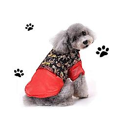 摩達客寵物系列♥中小型犬紅藍刺繡款福氣唐裝(變身系列狗衣服)