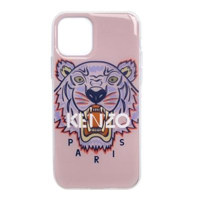 KENZO 3D立體彩繪虎頭灰色英文字母  I PHONE 11 Pro 軟膠手機殼 (粉紅)