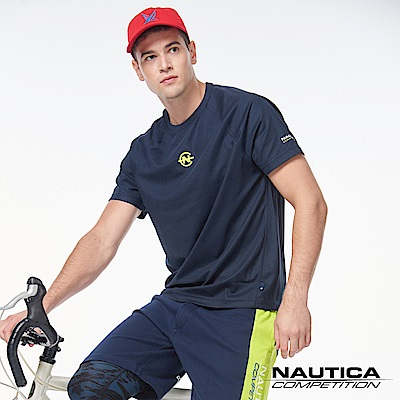 Nautica COMPETITION系列吸濕涼感短袖T恤-深藍色