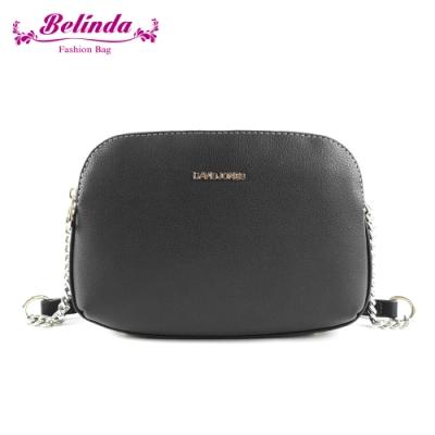 【Belinda】希爾斯三層機能鍊條側背包(黑色)