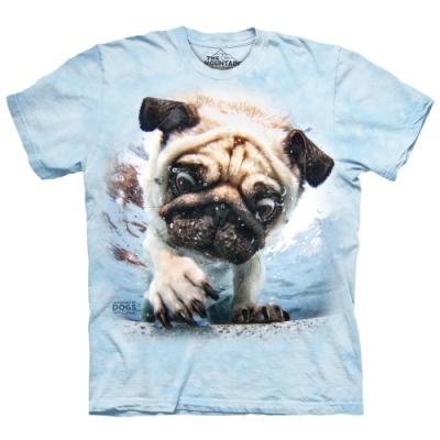 摩達客-美國The Mountain 水中約克夏 純棉環保短袖T恤