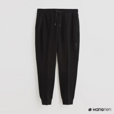 Hang Ten - 男裝 - 腰部鬆緊抽繩休閒長褲 - 黑