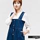 H:CONNECT 韓國品牌 女裝 -排扣打摺牛仔吊帶裙 - 藍 product thumbnail 1