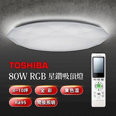 TOSHIBA 星鑽80W美肌LED吸頂燈 LEDTWRGB20-01S 全彩高演色 8-10坪適用