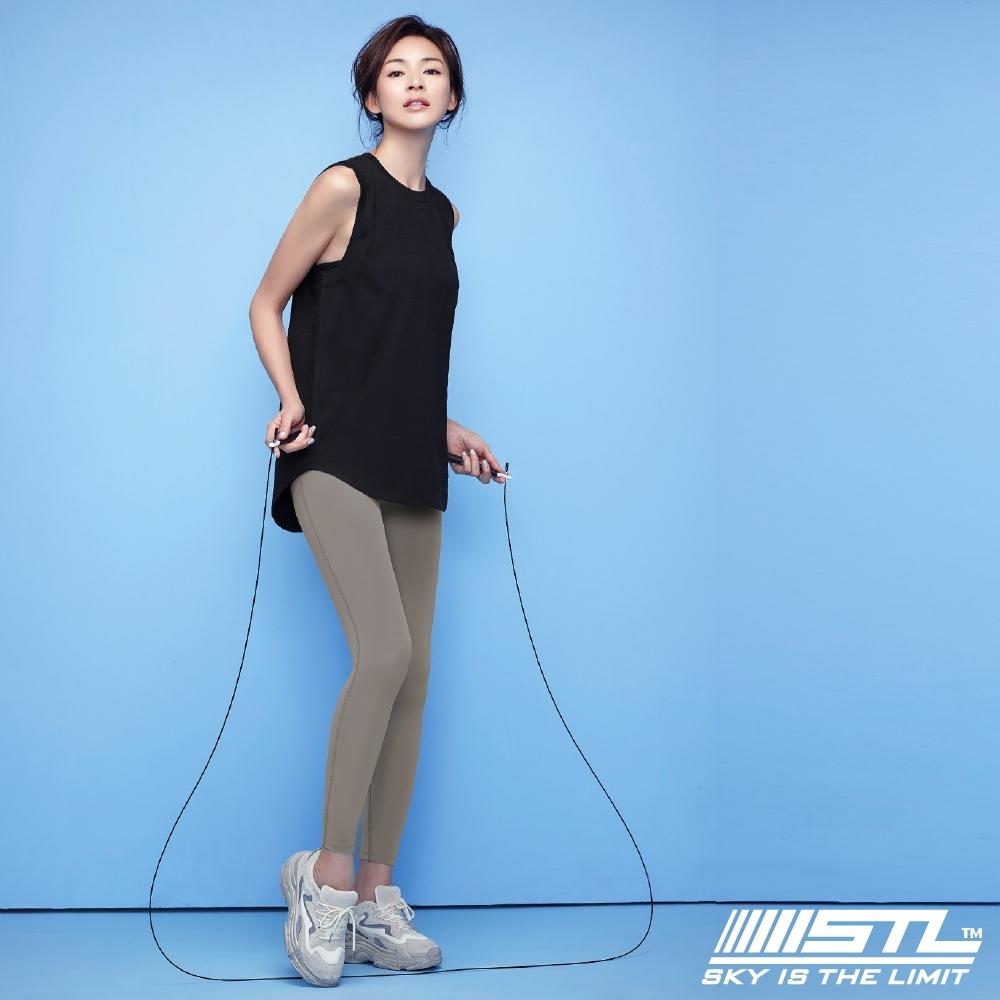 STL yoga Light Quickdry legging 韓國『超高腰』運動機能 壓力訓練緊身褲 9分 拿鐵咖啡 瑜珈/重訓/戶外/機能/登山/路跑
