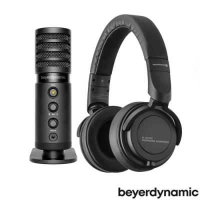 beyerdynamic USB電容式麥克風FOX+專業監聽耳罩式耳機DT240 PRO