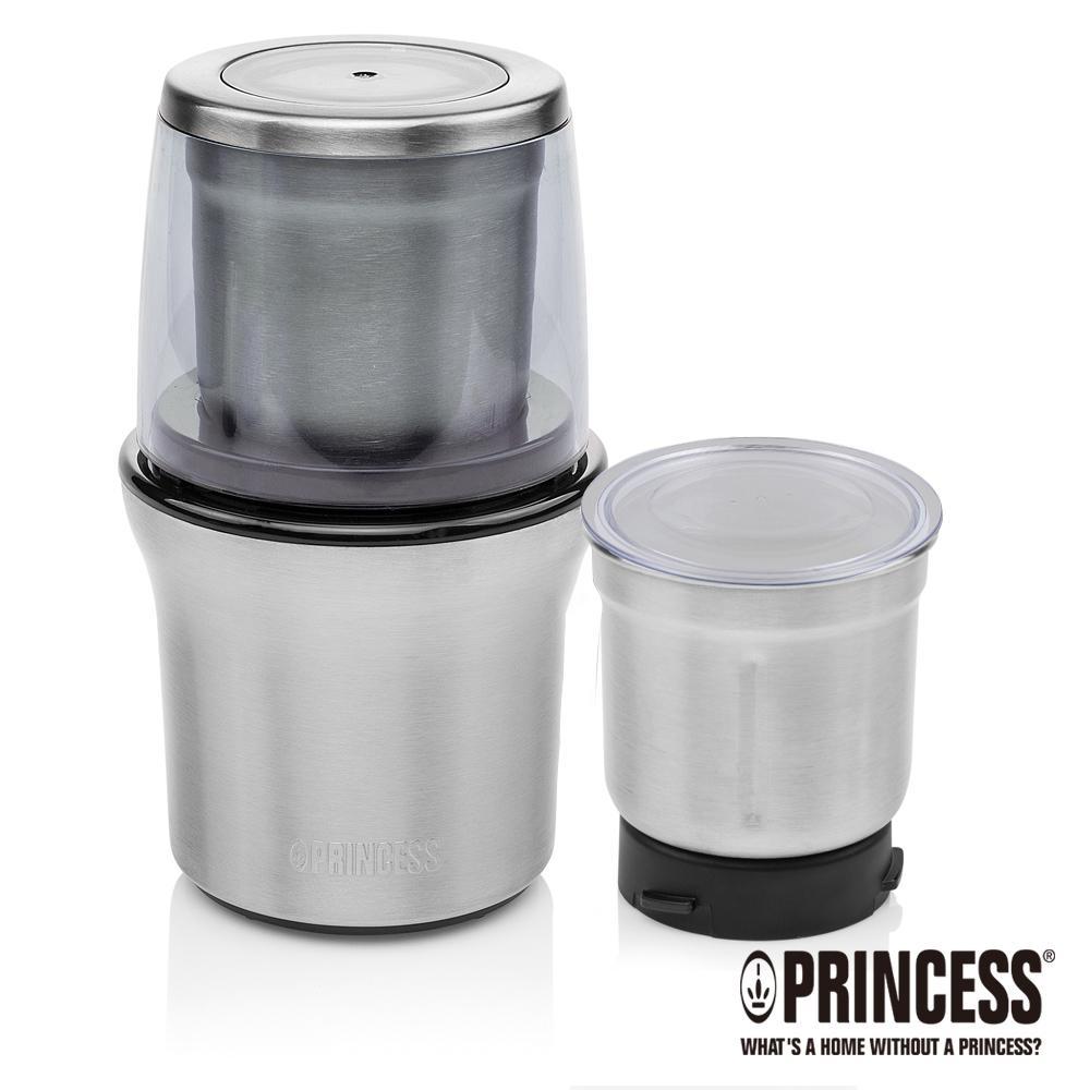 PRINCESS荷蘭公主不鏽鋼雙杯乾溼研磨機/附防噴蓋221030