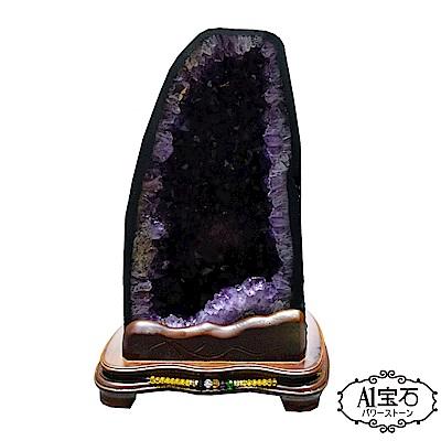 A1寶石 頂級巴西天然紫晶洞-紫鈦晶共生13.5kg(贈開運三寶風水五行木座) @ Y!購物