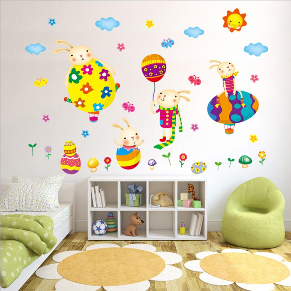 半島良品 DIY無痕壁貼-彩蛋兔子 XL7198 50x70cm