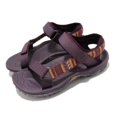 Merrell 涼鞋 Kahuna Web 織帶 魔鬼氈 女鞋 耐磨 黃金大底 避震 透氣 涼爽 紫 黃 ML002050